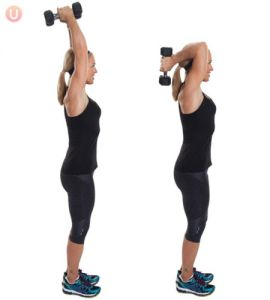 vrouw-tricep-extension-krachttraining