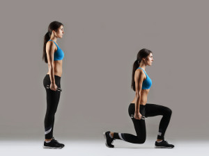vrouw-dumbell-lunges